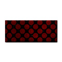 Circles2 Black Marble & Red Grunge (r) Cosmetic Storage Cases by trendistuff
