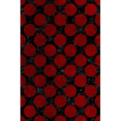 Circles2 Black Marble & Red Grunge (r) 5 5  X 8 5  Notebooks by trendistuff