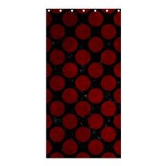 Circles2 Black Marble & Red Grunge (r) Shower Curtain 36  X 72  (stall)  by trendistuff