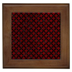 Circles3 Black Marble & Red Grunge Framed Tiles by trendistuff