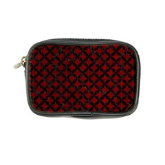 Circles3 Black Marble & Red Grunge Coin Purse by trendistuff