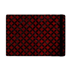 Circles3 Black Marble & Red Grunge Apple Ipad Mini Flip Case by trendistuff