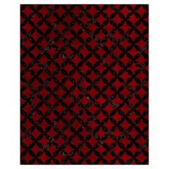 Circles3 Black Marble & Red Grunge Drawstring Bag (small) by trendistuff