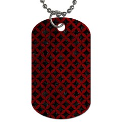 Circles3 Black Marble & Red Grunge (r) Dog Tag (one Side) by trendistuff