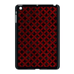 Circles3 Black Marble & Red Grunge (r) Apple Ipad Mini Case (black) by trendistuff