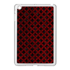 Circles3 Black Marble & Red Grunge (r) Apple Ipad Mini Case (white) by trendistuff
