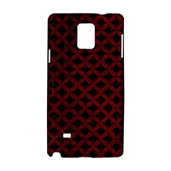 Circles3 Black Marble & Red Grunge (r) Samsung Galaxy Note 4 Hardshell Case by trendistuff