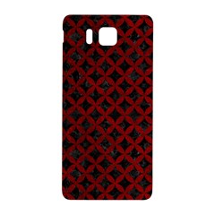 Circles3 Black Marble & Red Grunge (r) Samsung Galaxy Alpha Hardshell Back Case by trendistuff