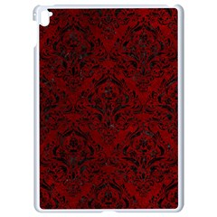 Damask1 Black Marble & Red Grunge Apple Ipad Pro 9 7   White Seamless Case by trendistuff