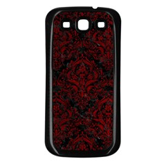 Damask1 Black Marble & Red Grunge (r) Samsung Galaxy S3 Back Case (black) by trendistuff