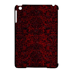 Damask2 Black Marble & Red Grunge Apple Ipad Mini Hardshell Case (compatible With Smart Cover) by trendistuff
