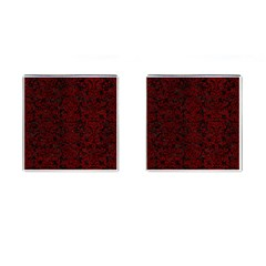 Damask2 Black Marble & Red Grunge (r) Cufflinks (square) by trendistuff