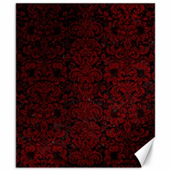 Damask2 Black Marble & Red Grunge (r) Canvas 20  X 24   by trendistuff