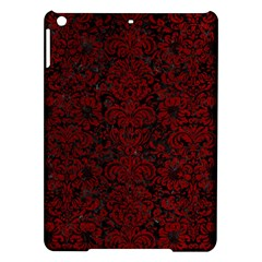 Damask2 Black Marble & Red Grunge (r) Ipad Air Hardshell Cases by trendistuff
