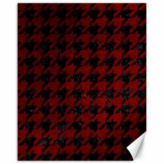 Houndstooth1 Black Marble & Red Grunge Canvas 16  X 20   by trendistuff