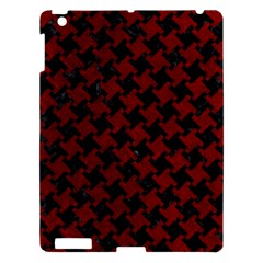 Houndstooth2 Black Marble & Red Grunge Apple Ipad 3/4 Hardshell Case by trendistuff