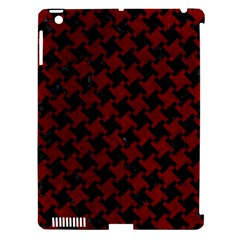 Houndstooth2 Black Marble & Red Grunge Apple Ipad 3/4 Hardshell Case (compatible With Smart Cover) by trendistuff