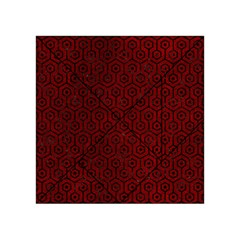 Hexagon1 Black Marble & Red Grunge Acrylic Tangram Puzzle (4  X 4 ) by trendistuff