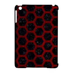 Hexagon2 Black Marble & Red Grunge (r) Apple Ipad Mini Hardshell Case (compatible With Smart Cover) by trendistuff