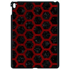 Hexagon2 Black Marble & Red Grunge (r) Apple Ipad Pro 9 7   Black Seamless Case by trendistuff