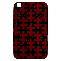 Puzzle1 Black Marble & Red Grunge Samsung Galaxy Tab 3 (8 ) T3100 Hardshell Case  by trendistuff