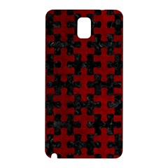 Puzzle1 Black Marble & Red Grunge Samsung Galaxy Note 3 N9005 Hardshell Back Case by trendistuff