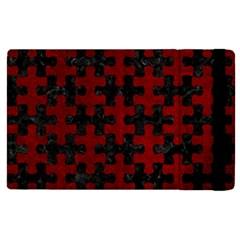 Puzzle1 Black Marble & Red Grunge Apple Ipad Pro 9 7   Flip Case by trendistuff