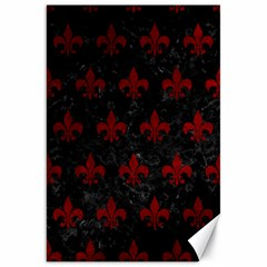 Royal1 Black Marble & Red Grunge Canvas 20  X 30   by trendistuff
