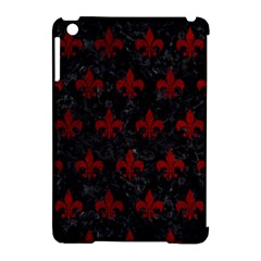 Royal1 Black Marble & Red Grunge Apple Ipad Mini Hardshell Case (compatible With Smart Cover) by trendistuff