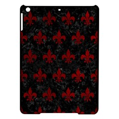 Royal1 Black Marble & Red Grunge Ipad Air Hardshell Cases by trendistuff