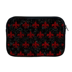 Royal1 Black Marble & Red Grunge Apple Macbook Pro 17  Zipper Case by trendistuff