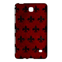 Royal1 Black Marble & Red Grunge (r) Samsung Galaxy Tab 4 (7 ) Hardshell Case  by trendistuff