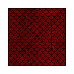 Scales1 Black Marble & Red Grunge Acrylic Tangram Puzzle (6  X 6 ) by trendistuff