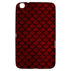 Scales1 Black Marble & Red Grunge Samsung Galaxy Tab 3 (8 ) T3100 Hardshell Case  by trendistuff