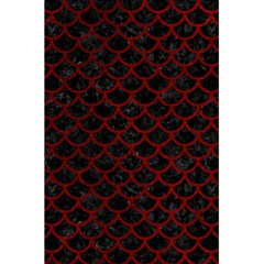 Scales1 Black Marble & Red Grunge (r) 5 5  X 8 5  Notebooks by trendistuff