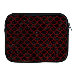 Scales1 Black Marble & Red Grunge (r) Apple Ipad 2/3/4 Zipper Cases