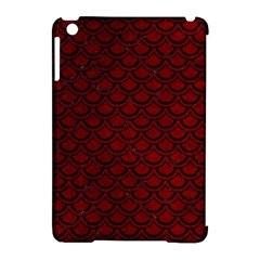 Scales2 Black Marble & Red Grunge Apple Ipad Mini Hardshell Case (compatible With Smart Cover) by trendistuff