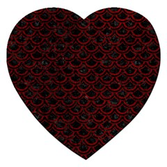 Scales2 Black Marble & Red Grunge (r) Jigsaw Puzzle (heart) by trendistuff