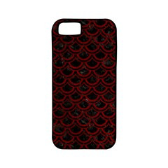 Scales2 Black Marble & Red Grunge (r) Apple Iphone 5 Classic Hardshell Case (pc+silicone) by trendistuff