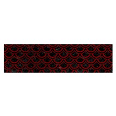 Scales2 Black Marble & Red Grunge (r) Satin Scarf (oblong) by trendistuff