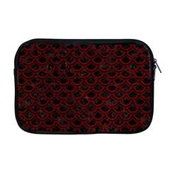 Scales2 Black Marble & Red Grunge (r) Apple Macbook Pro 17  Zipper Case by trendistuff
