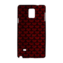 Scales3 Black Marble & Red Grunge Samsung Galaxy Note 4 Hardshell Case by trendistuff