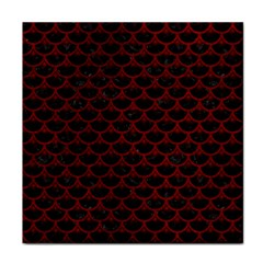 Scales3 Black Marble & Red Grunge (r) Face Towel by trendistuff
