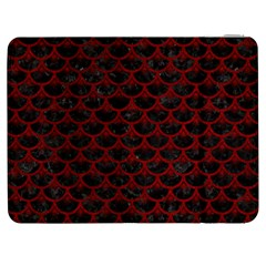 Scales3 Black Marble & Red Grunge (r) Samsung Galaxy Tab 7  P1000 Flip Case