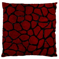 Skin1 Black Marble & Red Grunge (r) Large Flano Cushion Case (one Side) by trendistuff