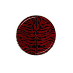 Skin2 Black Marble & Red Grunge Hat Clip Ball Marker (10 Pack) by trendistuff