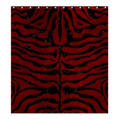 Skin2 Black Marble & Red Grunge Shower Curtain 66  X 72  (large)  by trendistuff