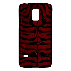 Skin2 Black Marble & Red Grunge Galaxy S5 Mini by trendistuff