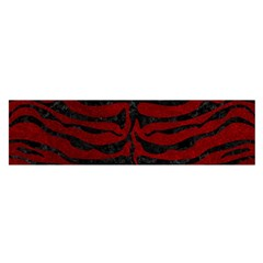 Skin2 Black Marble & Red Grunge Satin Scarf (oblong) by trendistuff