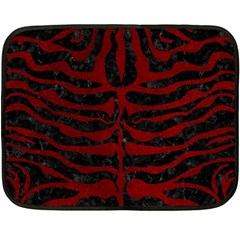 Skin2 Black Marble & Red Grunge (r) Double Sided Fleece Blanket (mini)  by trendistuff